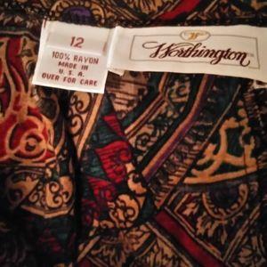 Worthington Skirts - Boho print skirt